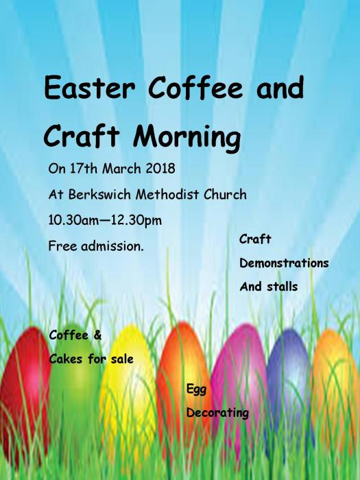 Easter coffee morning poster