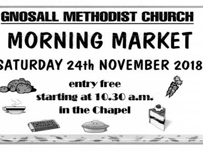 Morning market Gnosall